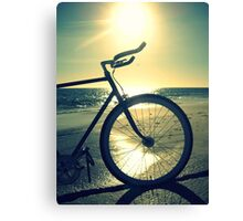 Fixie at Dusk Canvas Print