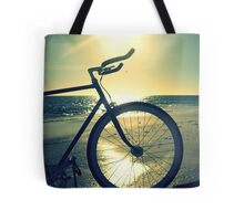 Fixie at Dusk Tote Bag