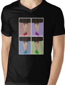 Vibrant Shoes Mens V-Neck T-Shirt