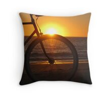 Fixie at Sunset Throw Pillow