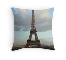 Eiffel Tower as evening draws in Throw Pillow