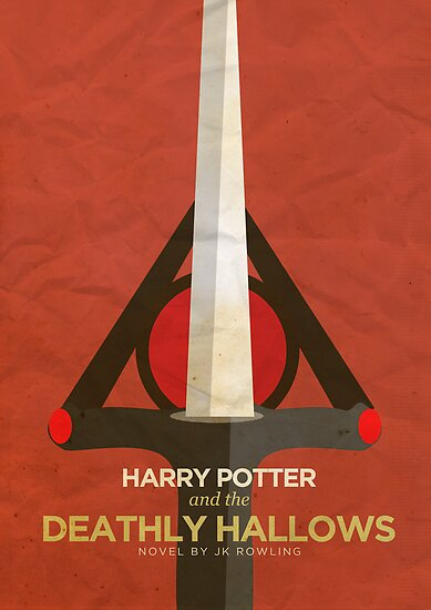 Harry Potter and the Deathly Hallows Minimalist Poster by Risa Rodil