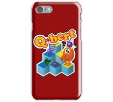 Q*Bert Logo iPhone Case/Skin