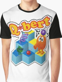Q*Bert Logo Graphic T-Shirt