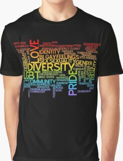 LGBT words cloud Graphic T-Shirt