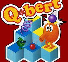 Q*Bert Logo by SquareEyedJak