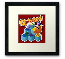 Q*Bert Logo Framed Print