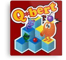 Q*Bert Logo Metal Print