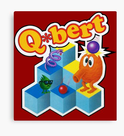 Q*Bert Logo Canvas Print