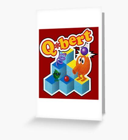 Q*Bert Logo Greeting Card