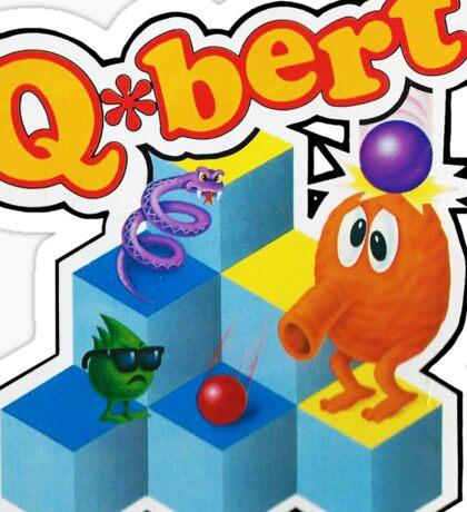Q*Bert Logo Sticker