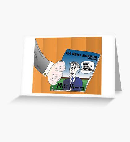 Caricature Options Binaires Mitt ROMNEY Greeting Card