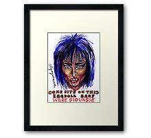 Were Siouxsie Framed Print