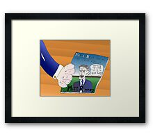 Binary Options News Caricature Mitt Romney Framed Print