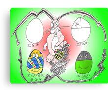 Binary Options News Easter Egg Canvas Print
