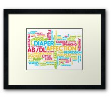 AB/DL words cloud Framed Print