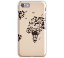 Food map iPhone Case/Skin
