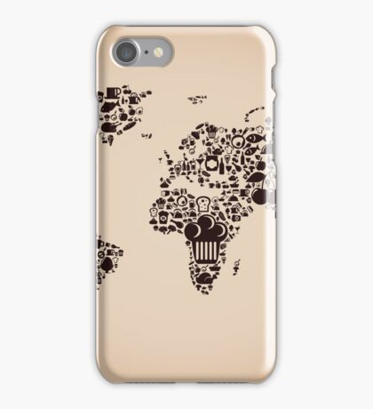 Food map iPhone Case/Skin