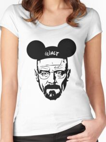 Transparent Walter Mouse Women's Fitted Scoop T-Shirt