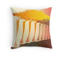 Forest columns Throw Pillow