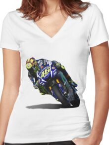 rossi Women's Fitted V-Neck T-Shirt