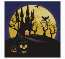 Haunted Halloween Castle One Piece - Short Sleeve