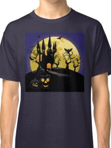 Haunted Halloween Castle Classic T-Shirt