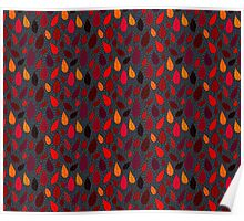 Autumn leaves pattern. Poster