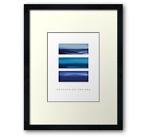 Colours of the Sea Framed Print