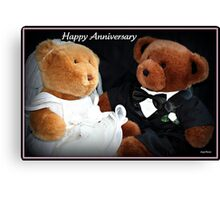 Happy Anniversary Canvas Print