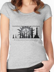 Supernatural: An Angel-Size Building Women's Fitted Scoop T-Shirt