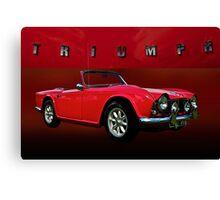 1963 Triumph TR4 Canvas Print