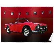1963 Triumph TR4 Poster