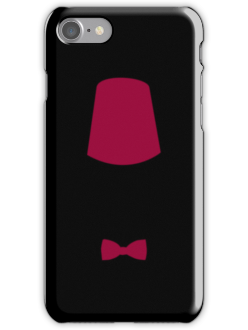 Doctor who inspired: Matt Smith Bowtie and Fez Iphone case by kevinlartees