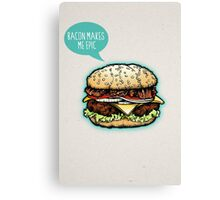 Epic Burger! Canvas Print