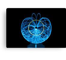 Blue Orb of Light Canvas Print