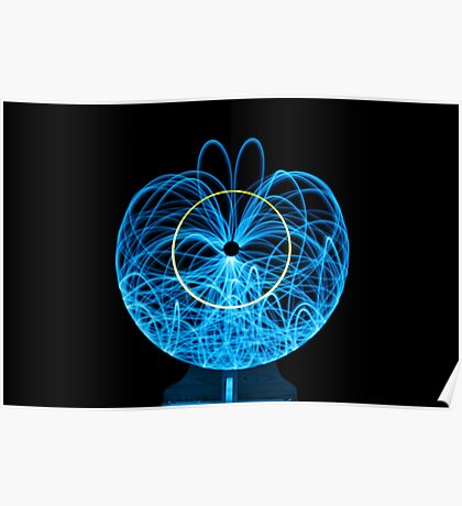 Blue Orb of Light Poster
