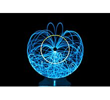 Blue Orb of Light Photographic Print