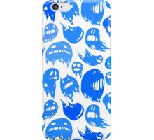 Blue ghosts party iPhone Case/Skin