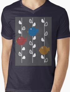 Birds of a Leave Mens V-Neck T-Shirt