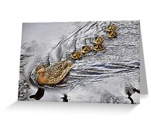 Don't ducklinger, catch up! Greeting Card