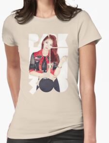 TWICE 'Park Ji-soo' Typography Womens Fitted T-Shirt