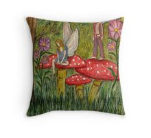 Even Fairy's Fall Out Throw Pillow