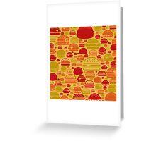 Hamburger a background Greeting Card