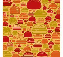 Hamburger a background Photographic Print