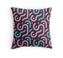 Jelly worms Throw Pillow