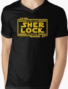 SHER LOCK Mens V-Neck T-Shirt
