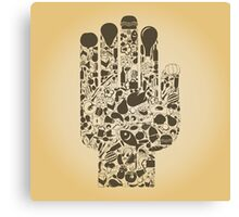Hand food Canvas Print