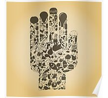 Hand food Poster