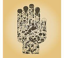 Hand food Photographic Print